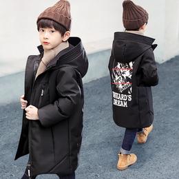 男童棉衣2018新款儿童羽绒棉服中长款棉袄中大童加厚冬季宝宝外套