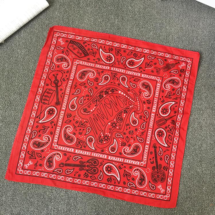 关八 周边 KANJANI EIGHT 红色头巾 围巾 方巾 包裹巾53*53cm