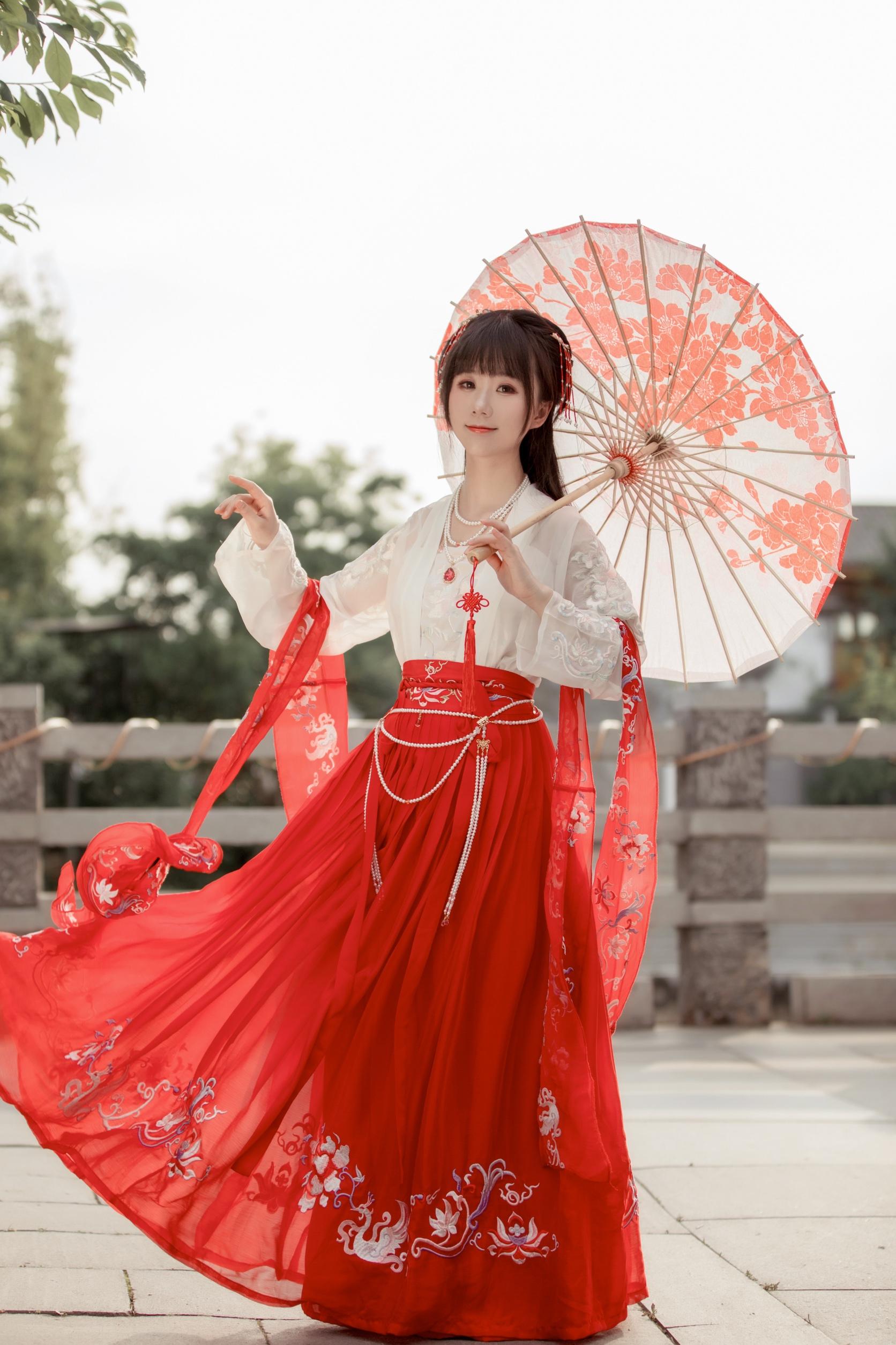 她说原创春夏秋【云绯】传统汉服齐胸齐腰襦裙大袖衫(现货销售)
