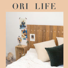 ORi Life Environmentally friendly solid wood bed ins good bed backboard Original design homestay can be customized