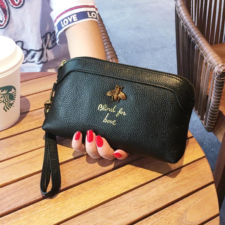 潮流女手机零钱包百搭手拿包真皮新款手抓包韩版大容量女士小手包