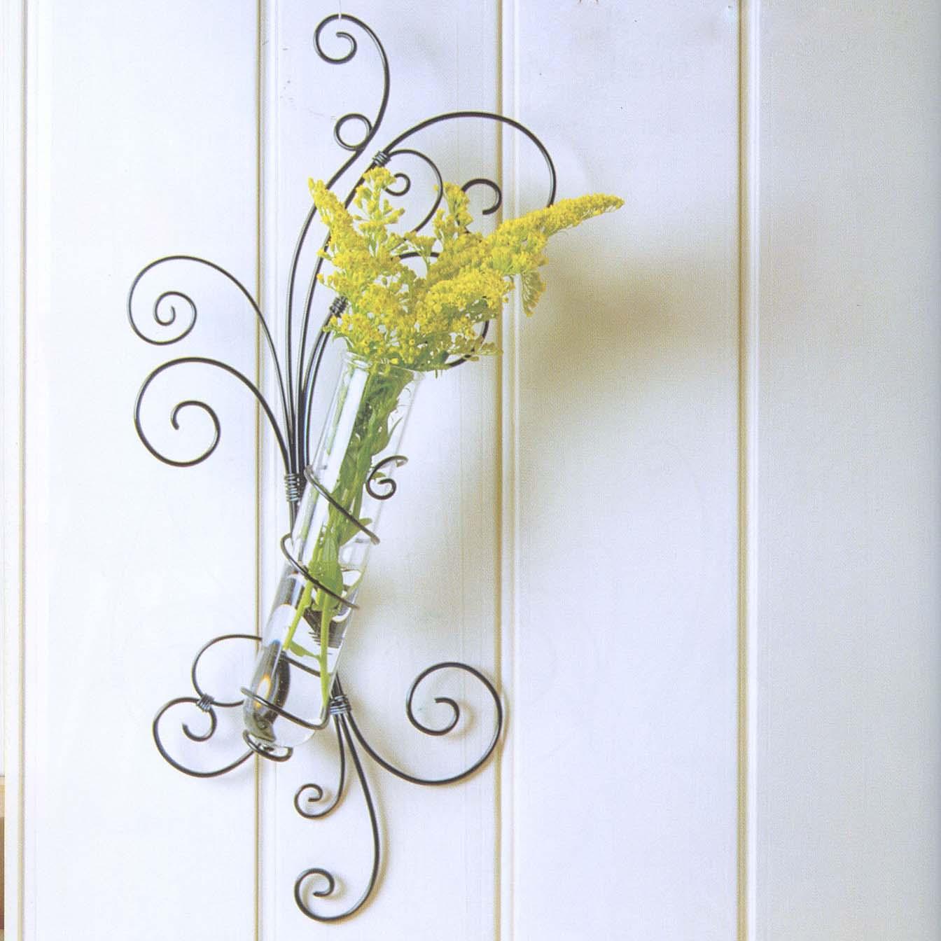 创意手工艺品 纯手工铝丝制作 壁式创意造型花架 插花花瓶 墙饰
