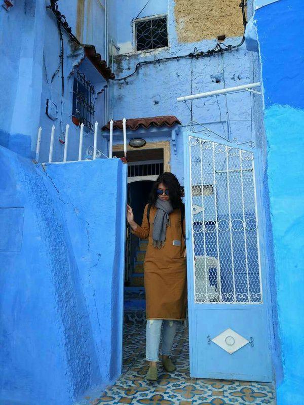出国旅游穿了,在这蓝色世界,此服获得大量好评。
