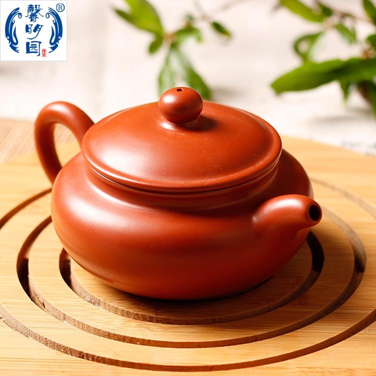 大埔馨明园陶瓷 红陶手拉胚坯功夫茶壶茶具 纯手工紫砂朱泥君子壶