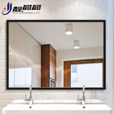 靓 Jingjing square bathroom mirror with border wall hanging toilet mirror Bathroom sink wall hanging bathroom mirror