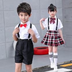 六一儿童大合唱演出服装小学生班服幼儿园校服男女童背带裤表演服