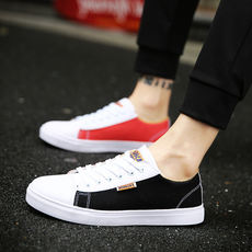 Men's shoes summer tide shoes 2018 new Korean version of the wild canvas shoes youth board shoes trend breathable casual shoes