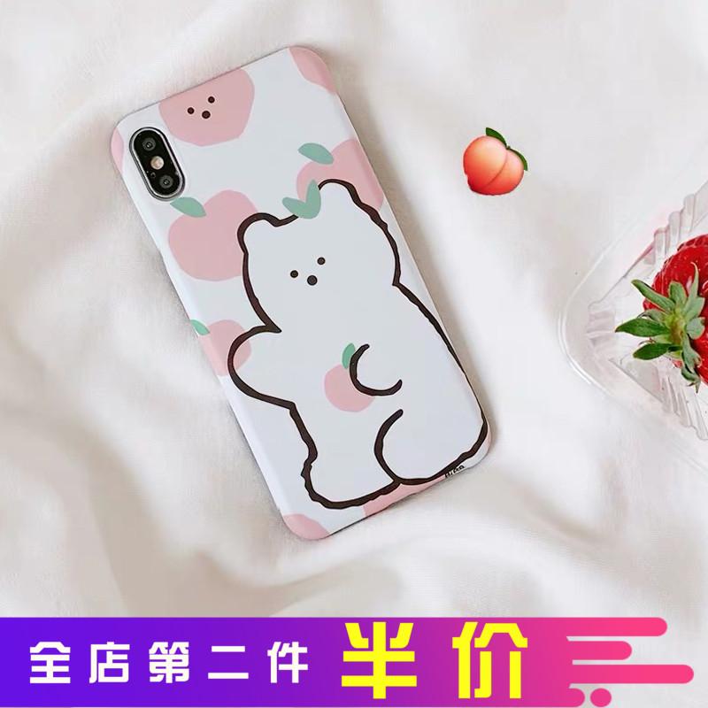 韩国粉一加7 一加6T 一加五T 一加3T 坚果pro2可爱苹果小熊手机壳