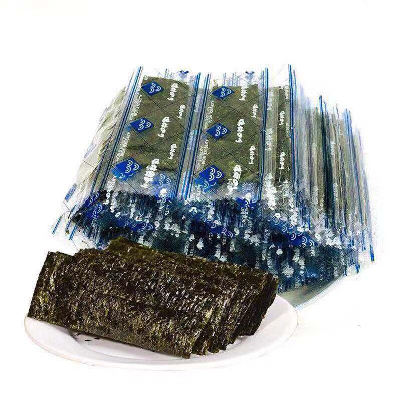 连云港即食海苔原味烤紫菜散装100束一束两片儿童补钙零食