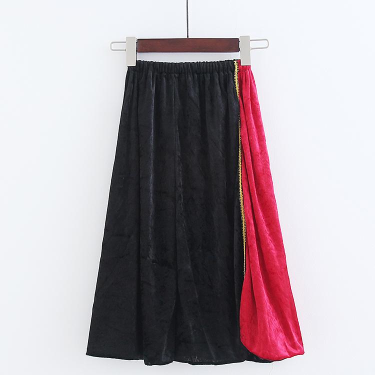 2017秋季新款万圣节亲子扮演服半身裙两色拼接舞蹈服道具服