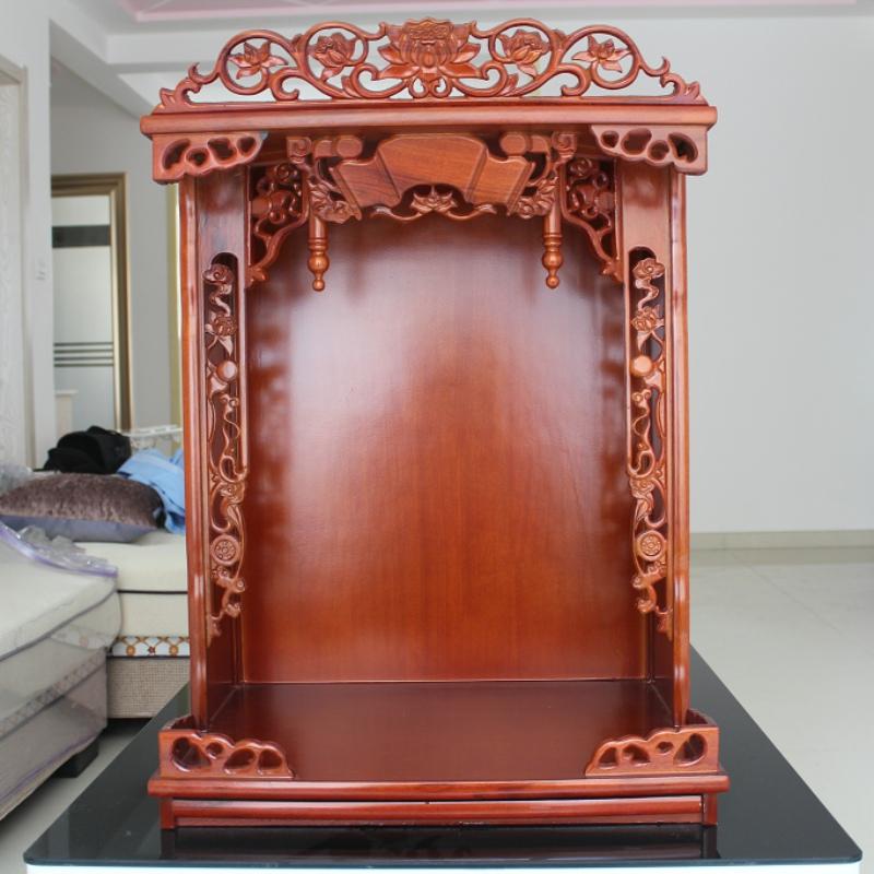 实木佛龛中式仿古柜子菩萨财神关公供桌祖先牌位神台手绘雕花佛台