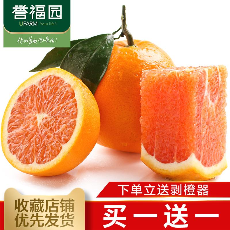 买1送1 实发4斤 誉福园新鲜水果橙子正宗秭归红肉脐橙中华红血橙