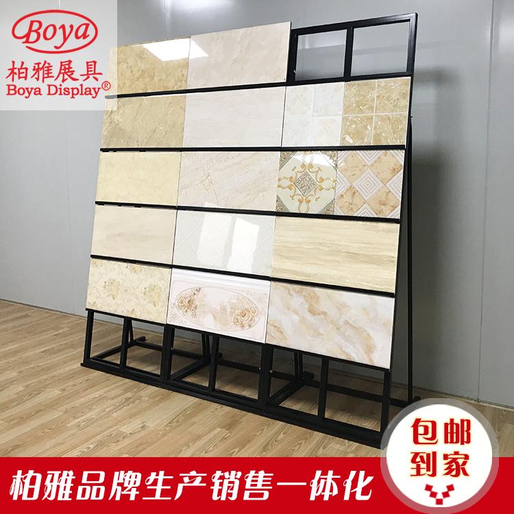 瓷砖展架300瓷片瓷砖样品架子木地板展架子铝扣板集成吊顶展示架