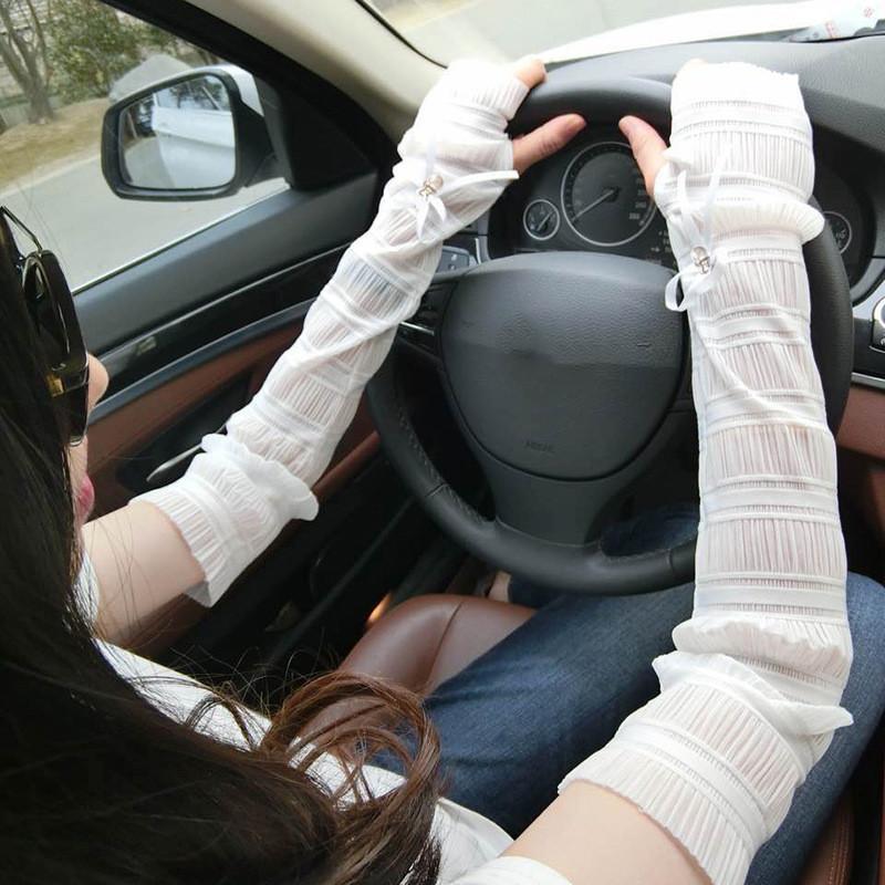 冰袖夏季男女放防晒手套 肤色冰丝袖套 汽车用品户外防嗮开车手袖