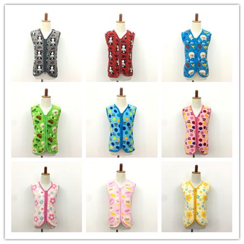 出日本秋冬婴童幼童两用软绵绵马甲卡通珊瑚绒睡袋双拉链0-5岁