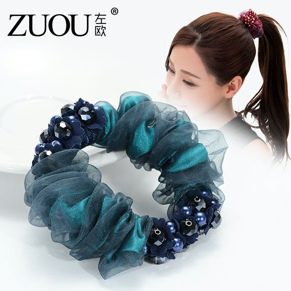 Head rope new small fresh and simple personality hair ring hair rope rubber band tiara head flower tie hair accessories
