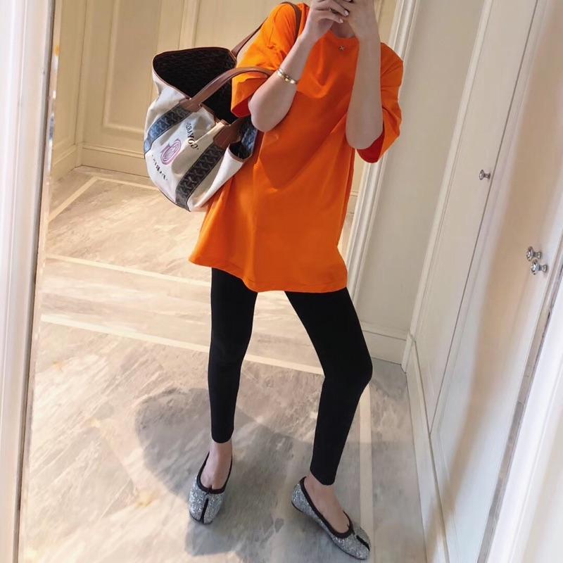 【LeoMami】纯棉孕妇t恤女夏短袖中长款时尚夏天 宽松装上衣夏装