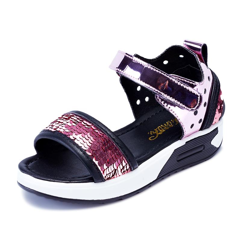 女童凉鞋2019新款时尚夏季软底韩版小公主中大童学生女孩儿童鞋子