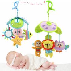 新生婴儿床上玩具动物推车吊伞摇铃挂件0-1岁男女孩宝宝风铃床铃