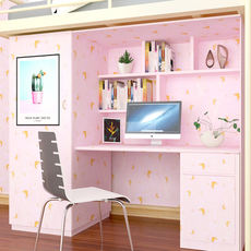 Ins wind dormitory wall bedroom decoration wallpaper girls net red wallpaper table cabinet girl heart room checkered wallpaper