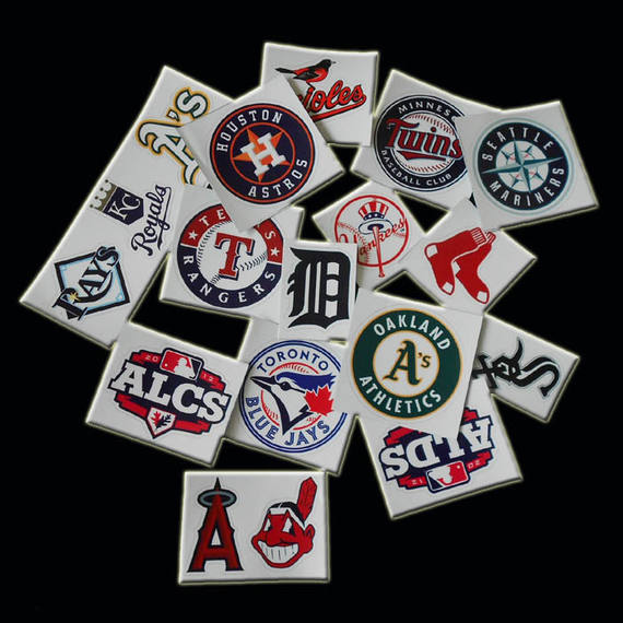 MLB team logo sticker waterproof 3M baseball helmet equipment bag sticker trolley case dead fly computer travel