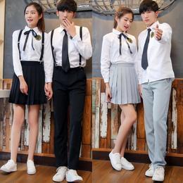 初中学生夏装高中英国男生校服套装学院风韩国制服裙女日系jk英伦