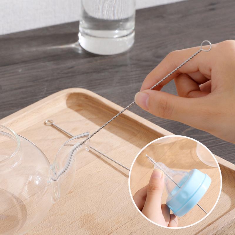吸管清洁刷清洗奶瓶的刷子家用加长儿童婴儿吸管杯水壶导管去污刷