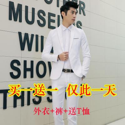 帅气三件套装男装正品立领西装中年商务休闲西服套装一套礼服青年