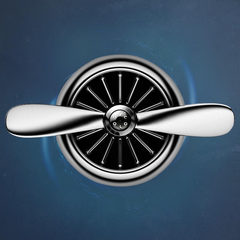 空军二号车载香水汽车空调出风口风扇三一号香薰车内香水旋转装饰