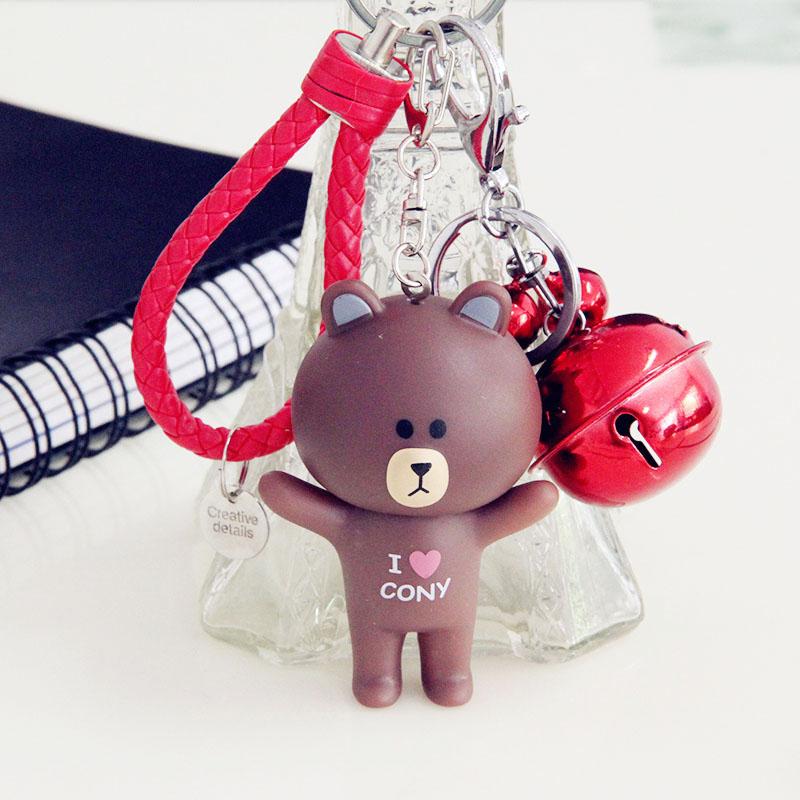 汽车用品钥匙扣挂件钥匙链卡通熊兔包包挂件家用钥匙扣挂件