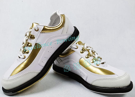 New products! American ELITE elite bowling shoes white gold women's shoes