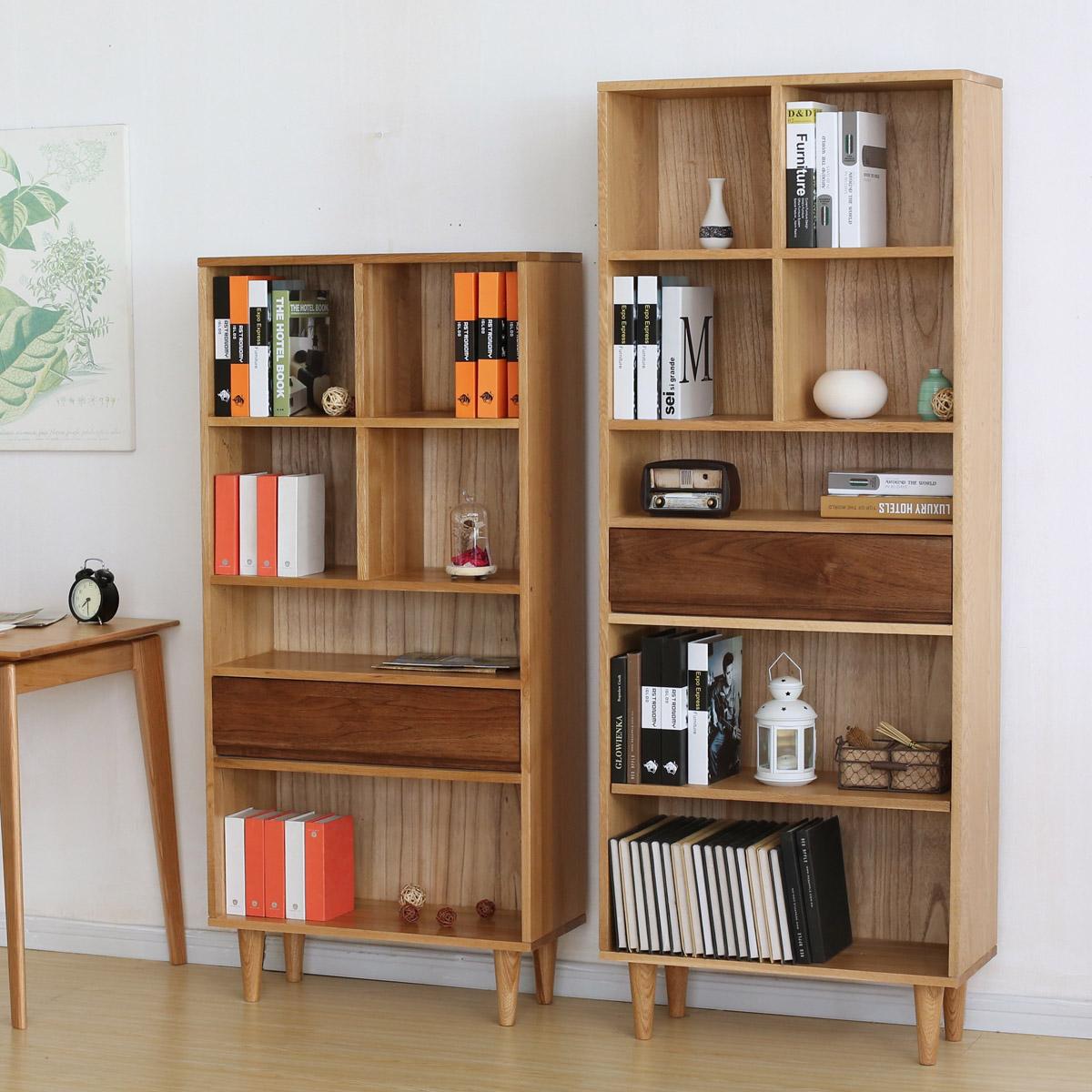 一折书架实木原木图片