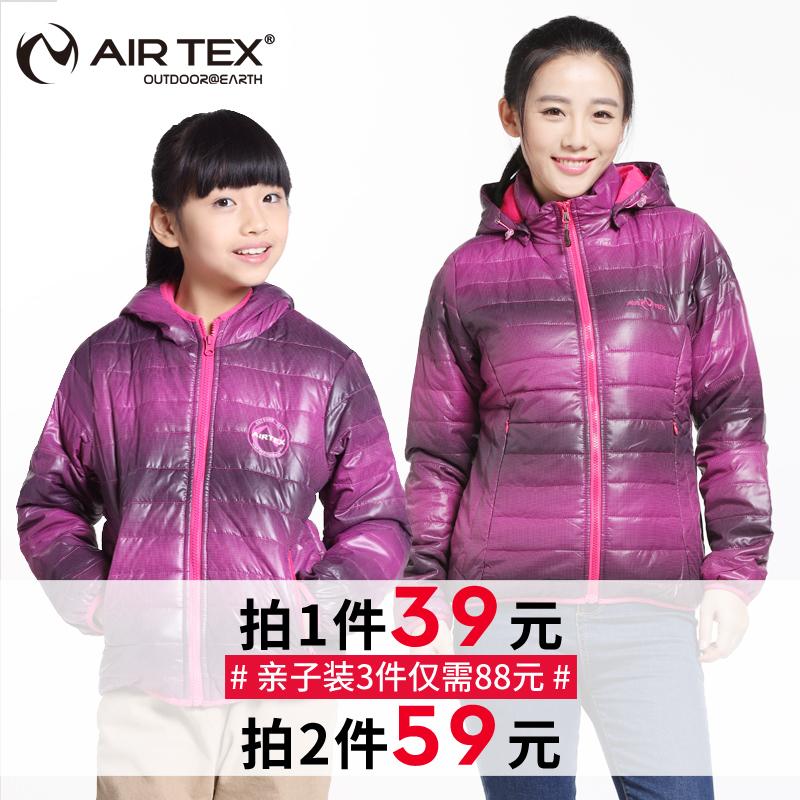 【2件59元】AIRTEX亚特户外女士厚款棉服外套秋冬保暖女棉衣儿童
