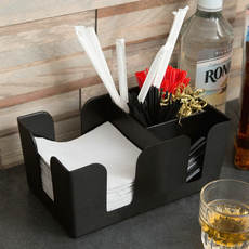 Bar Legend Bar Black Plastic Straw Tissue Box Straw Box Mixer Box Multifunctional Decorative Box