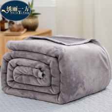 Nap blanket blanket coral fleece quilt flannel small blanket lunch break knee shawl office lazy blanket
