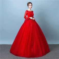 Wedding dress bride 2018 new pregnant women word shoulder trumpet sleeve wedding princess white wedding sexy long sleeve