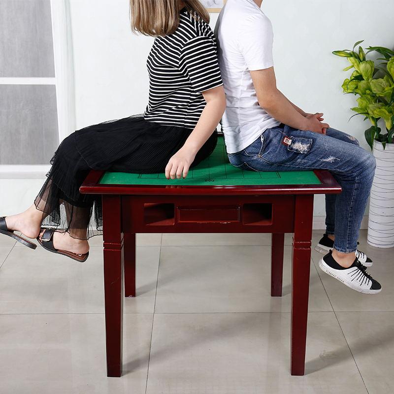 包邮家用实木麻将桌子简易手搓麻将桌宿舍餐桌两用桌棋牌桌麻将台