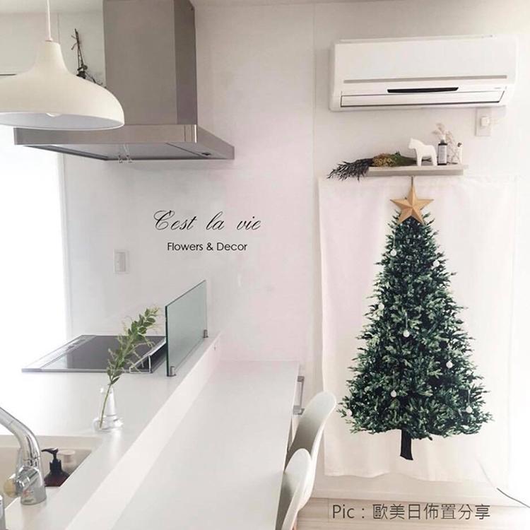 ins挂布背景布圣诞树圣诞节装饰小清新背景布简约墙壁挂画 北欧风