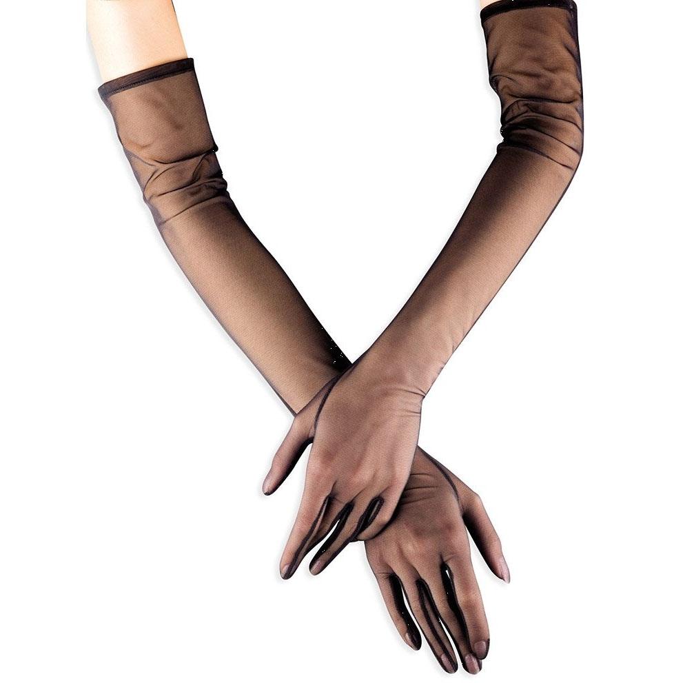 欧洲正品 法国产Cervin Tulle 女超薄长筒丝袜材质手套 性感情趣