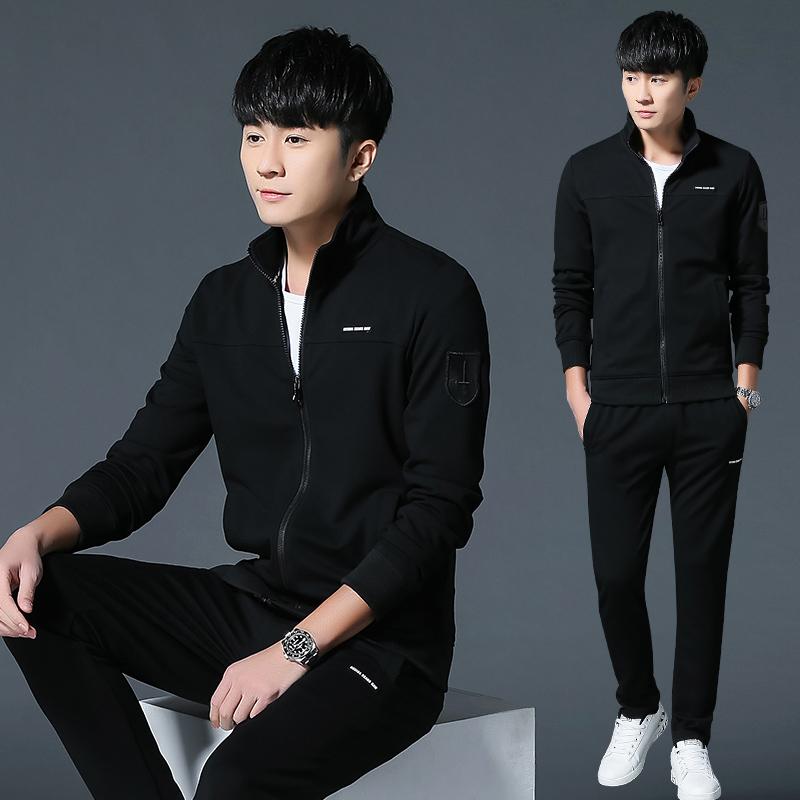 男运动套装春装男装2018新款韩版潮时尚卫衣休闲两件套春季衣服装