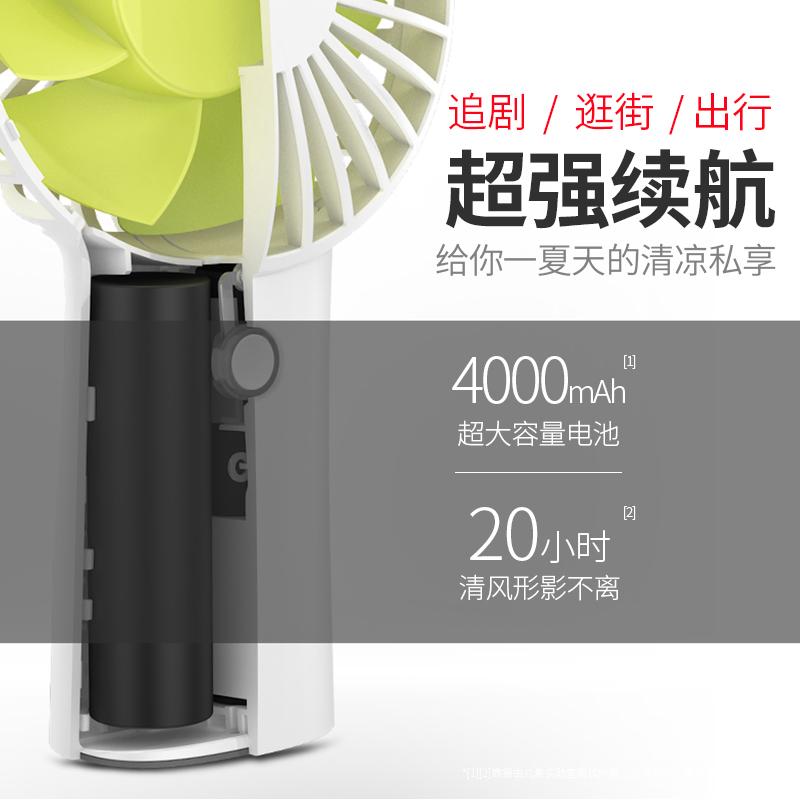 几素小风扇迷你可充电学生随身USB手持小型家用电动风扇宿舍床上提桌面大风力电池超静音便携台式手拿空调扇