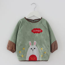 Autumn and winter baby eating smock boy waterproof anti-dressing children anti-dirty long-sleeved girl bib baby upside down
