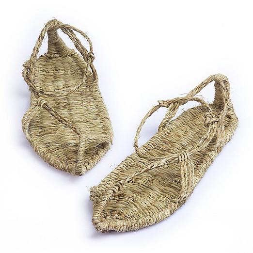 草鞋男女夏季凉鞋纯手工编织红军潮复古农家全麻拖鞋休闲大码