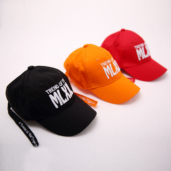 Elf children street dance hat female summer Korean version of the wild casual baseball cap letter cap visor tide