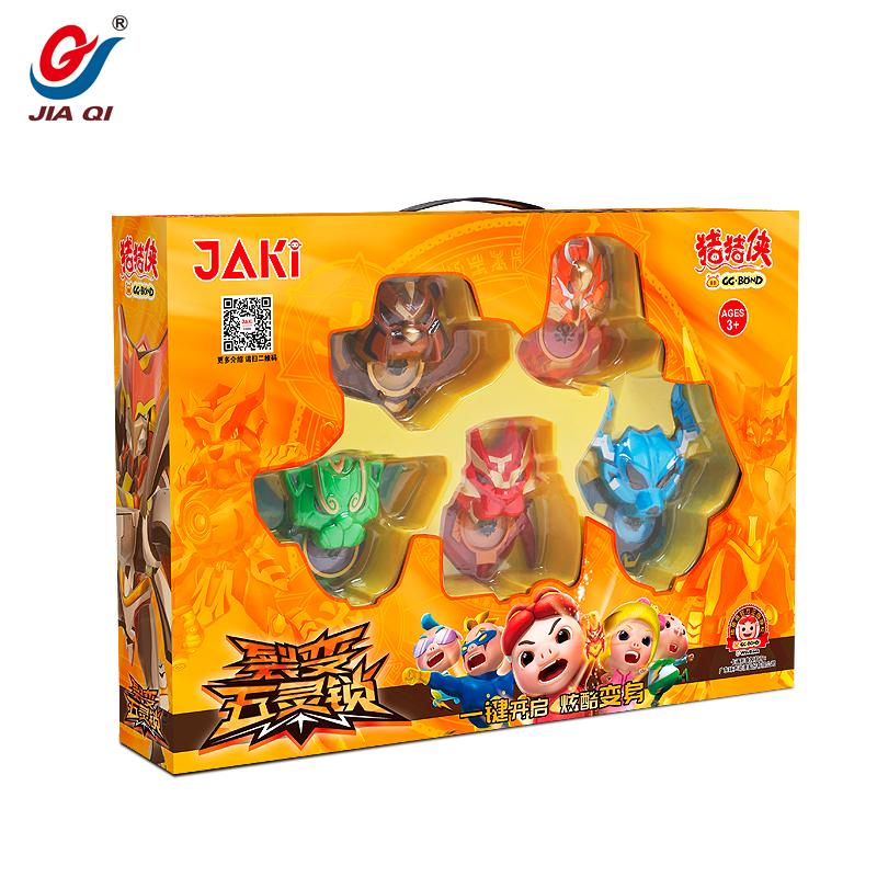 猪猪侠裂变五灵锁一键变形儿童玩具声光变形手环铁拳虎五灵锁全套