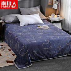 Antarctic winter flannel blanket sheets single female student dormitory single bed male thick coral quilt