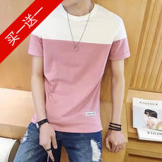 Cheap men's summer short-sleeved t-shirt Korean high school junior high school students 14 trend 16-year-old youth clothes handsome