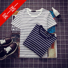 2018 new summer short-sleeved T-shirt men's round neck half-sleeved Korean version of the t-shirt trend t student clothes