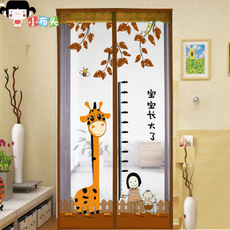 Mosquito curtain bedroom kitchen fabric Velcro summer mute encryption magnetic soft screen door insect window sand partition curtain