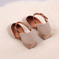 Fairy Baotou Sandals Female Summer 2019 New Vintage Mary Jane with Grandma Shoes One Buckle with Single Shoes